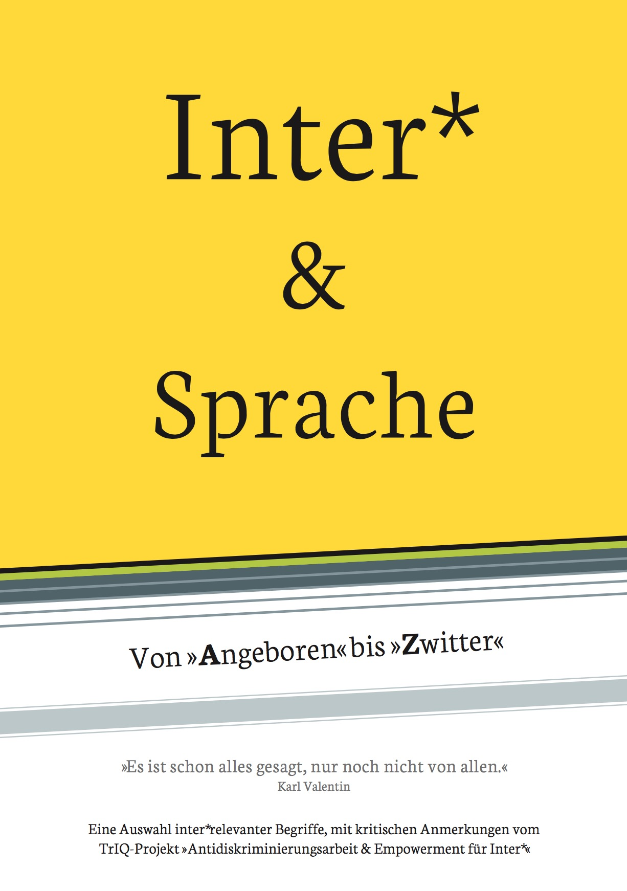 Inter und Sprache Broschuere