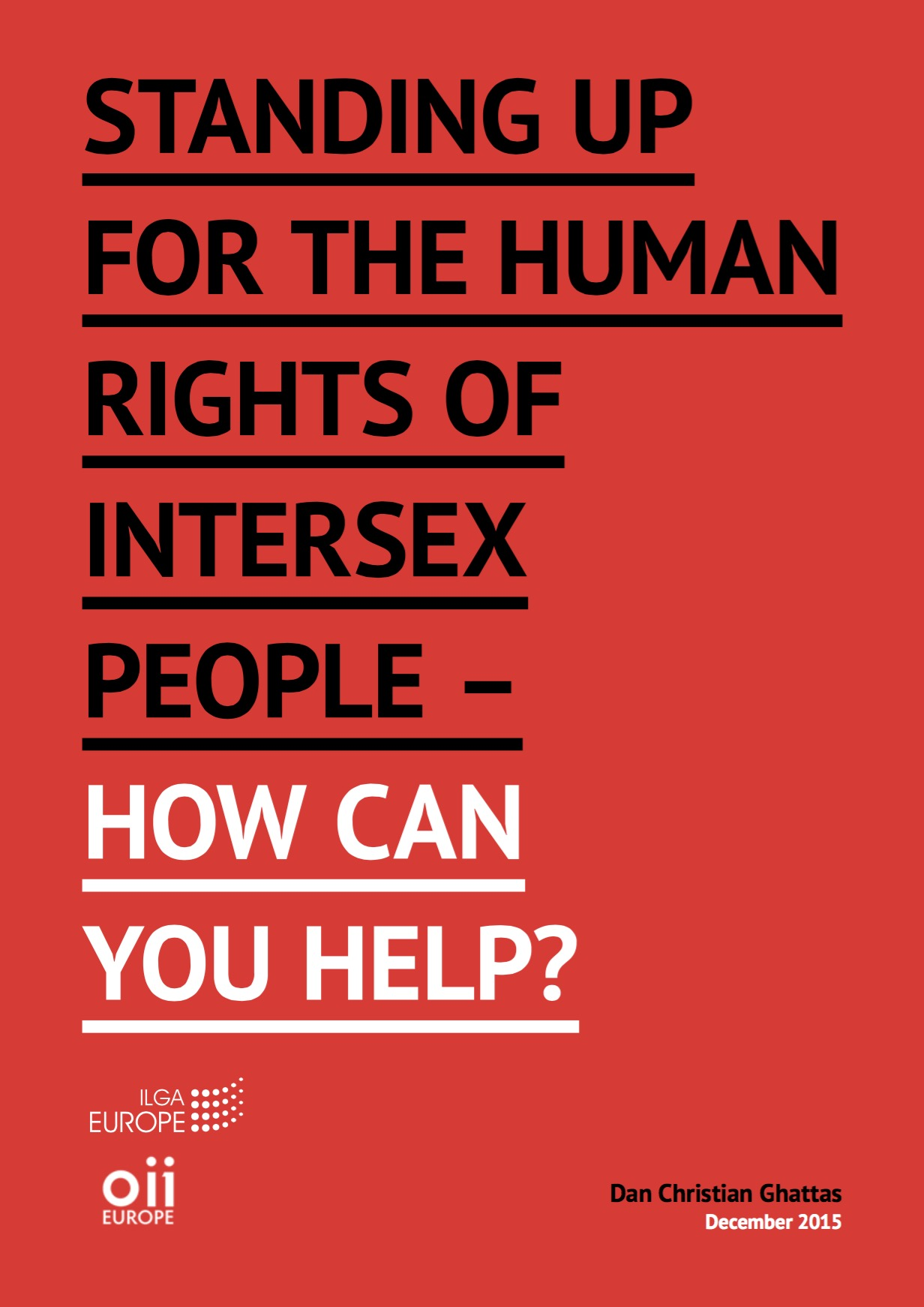 Toolkit: Standing up for the human rights of intersex people – how can you help?